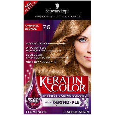 Schwarzkopf Keratin Color Permanent Hair Color Cream 7 5 Caramel