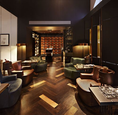 Bar And Lounge Interior Design: Project: Dunhill Tobacco Of London In 2019