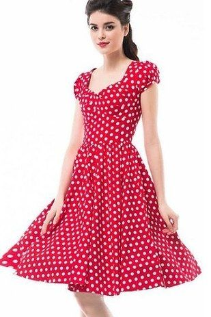 61fc997adbe2 A retro cap-sleeve dress that'll make you feel a little bit like Minnie  Mouse whenever you wear it. | 21 Awesome Products From Amazon To Put On  Your Wish ...
