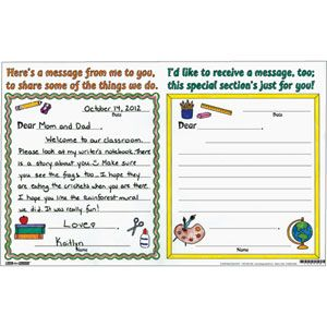 Love this idea for Curriculum Night!  Ready-To-Decorate™ Parent Night Note Swap
