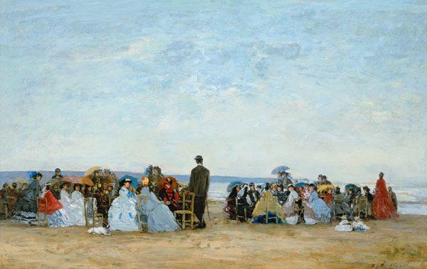Eugène Boudin - Plage près de Trouville (1863-66)