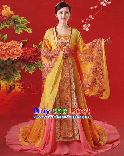 66fcc6a5a5 Ancient China Tang Dynasty Princess Outfits and Hair Accessories Complete  Set