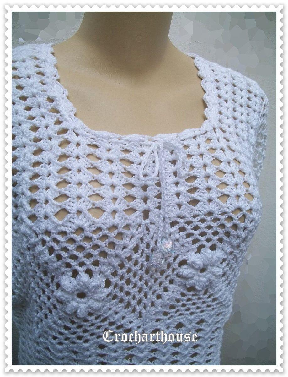 51198a2c00 Blusa branca com manga 3 4