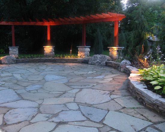 irregular stone patio design ideas