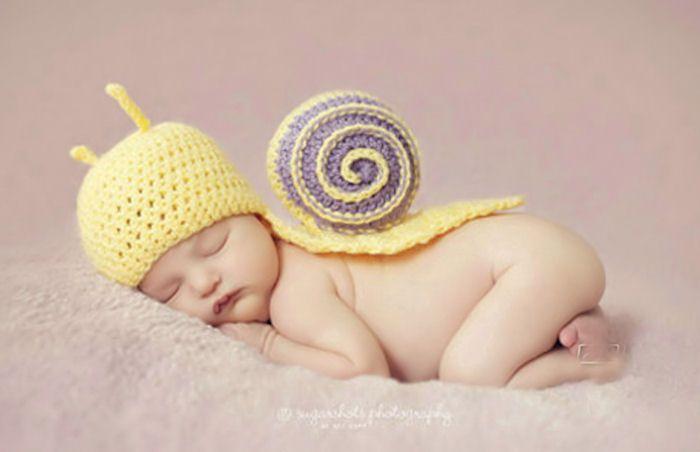 Cute Newborn Baby Boys Girls Knit Crochet Bear Hat Cap Costume Photography Props