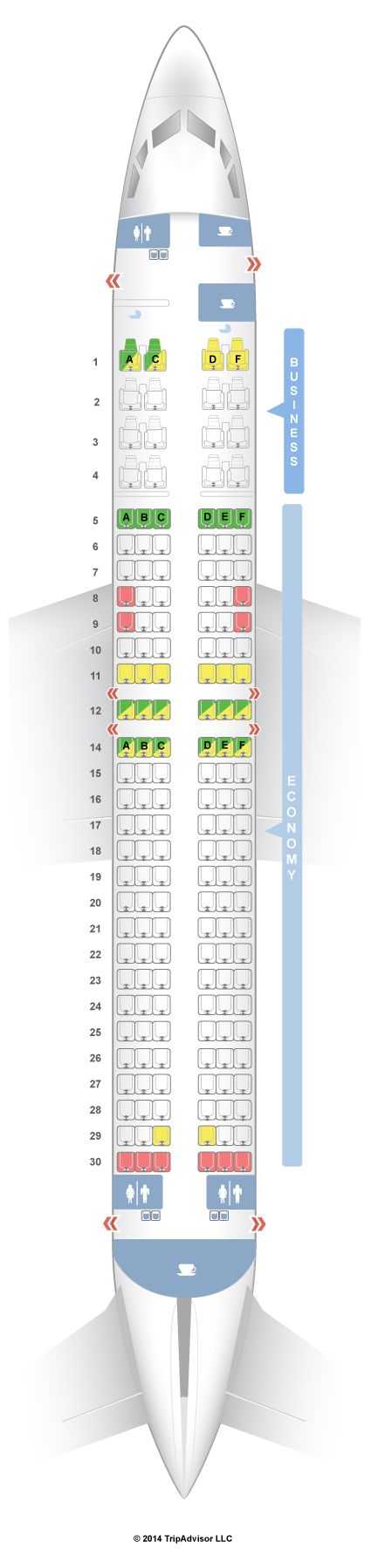 SeatGuru Seat Map Malaysia Airlines Boeing 737-800 (738) V1 ... on