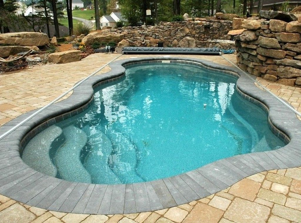 Exterior Contemporary Fiberglass Pool Kits Fiberglass Pool Shell Cheap Inground Fiberglass Pools Small Inground Pool Swimming Pools Inground Pool Landscaping