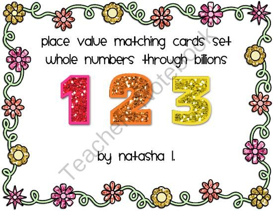 Number Forms Matching Cards Standard Form Maths And Expanded Form