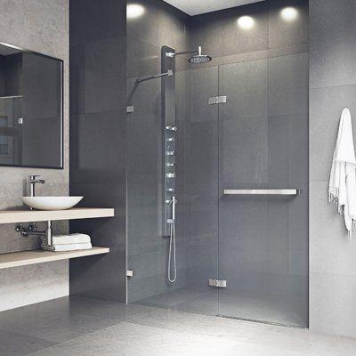 Vigo Nyos 60 X 72 Hinged Frameless Shower Door Finish Chrome