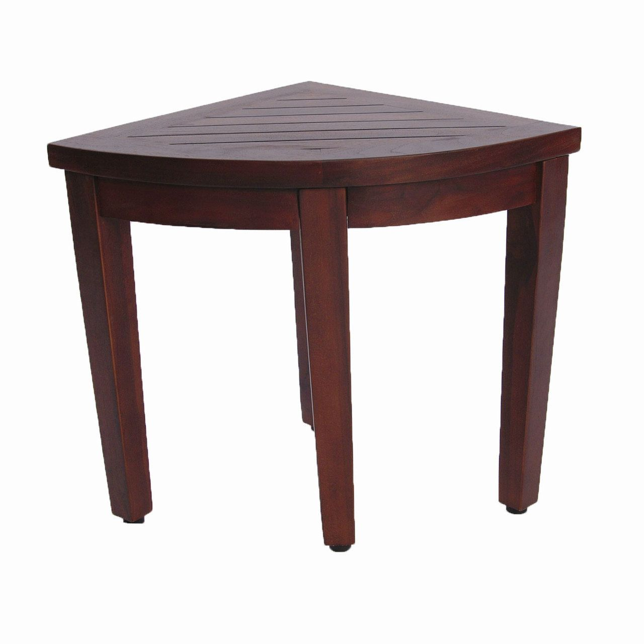 Oasis™ Bathroom Teak Corner Shower Seat Stool Chair Bench- Sitting ...