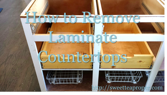How To Remove Laminate Countertops DIY Home Renovation Kitchen - How to remove kitchen countertops