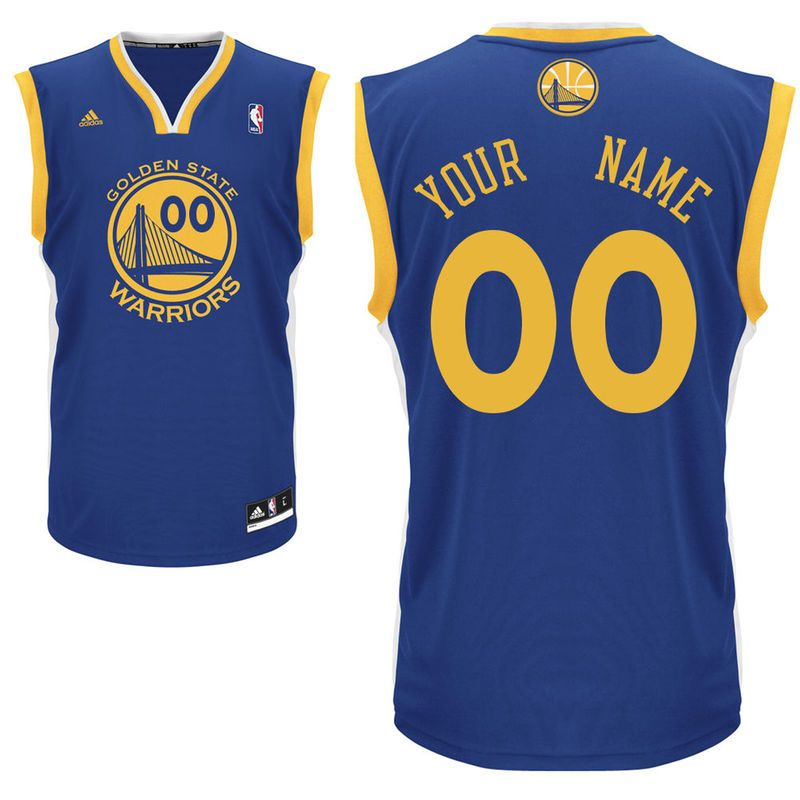 new style 811e1 1892c Golden State Warriors adidas Youth Custom Road Replica ...