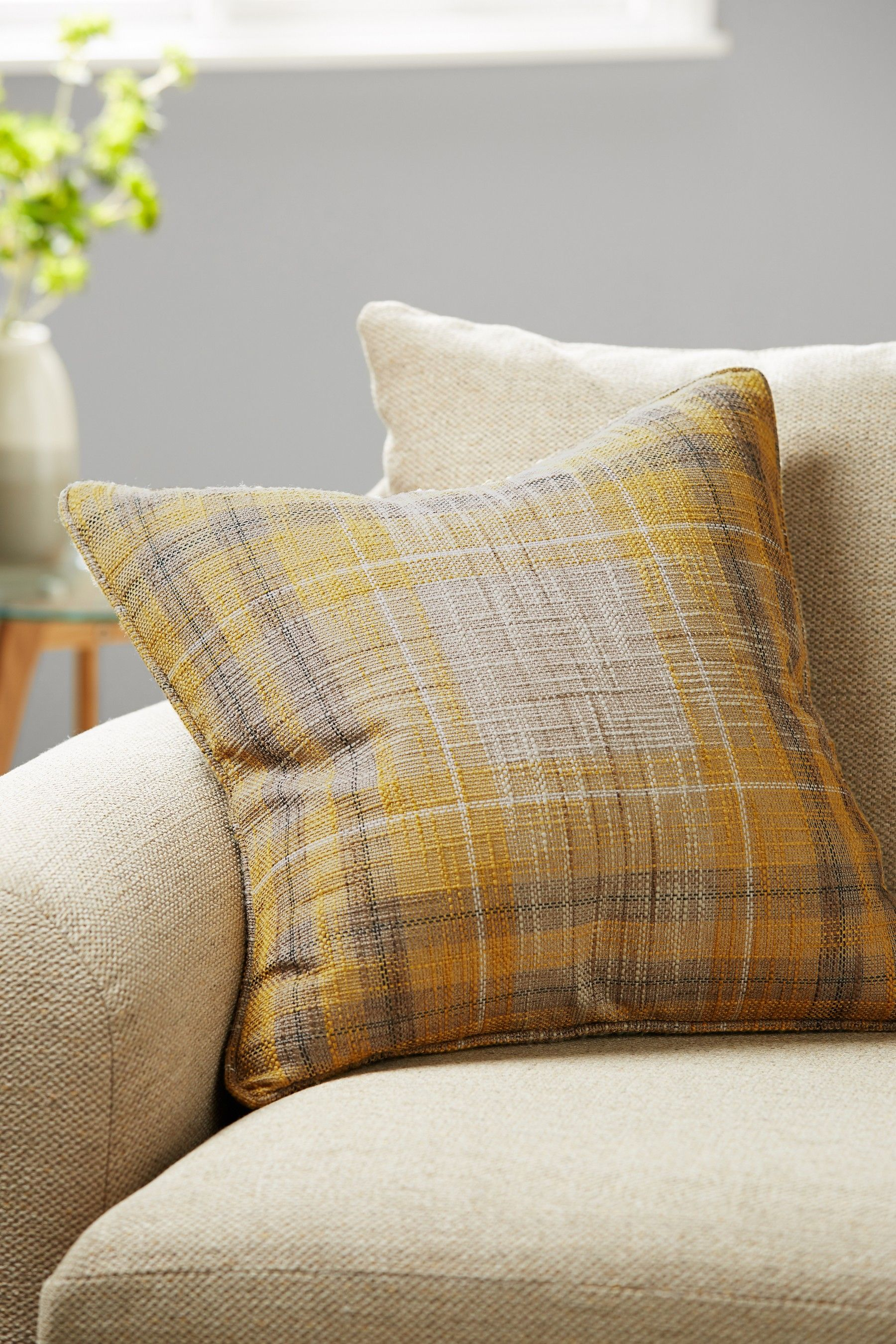 Buy Astley Check Cushion From The Next Uk Online Shop In 2020 Checked Cushions Cushions Grey Armchair