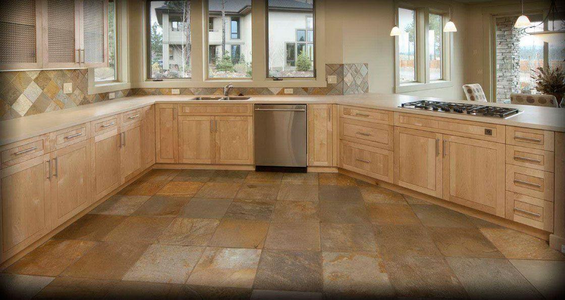 Natural Stone Checkered Flooringtile Pinterest Stone Kitchen