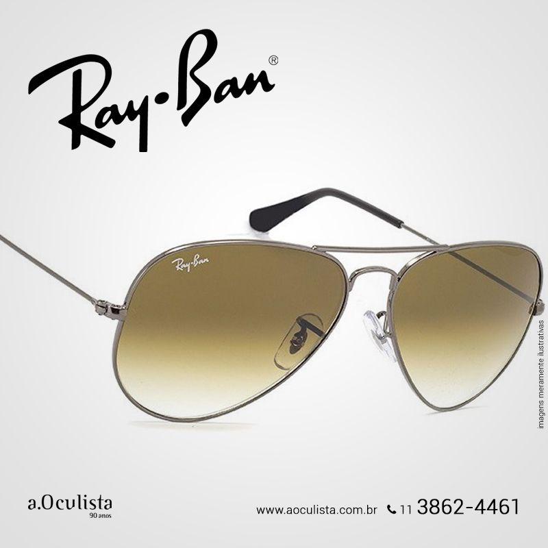 Óculos de Sol Aviador Ray Ban c7ae744afad30