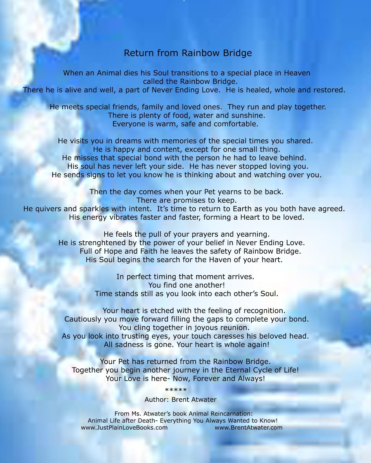 Animal In Spirit L Pet Spirit Animal Soul L Animal Heaven L Can Pets Come Back After They Die R Bridge Pet H Rainbow Bridge Poem Rainbow Bridge Dog Heaven