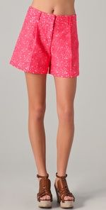 milly lace shorts