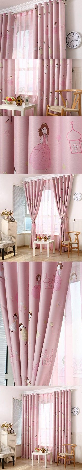 LQF Country Home Decor Pink Curtains for Bedroom Living Room Dining ...