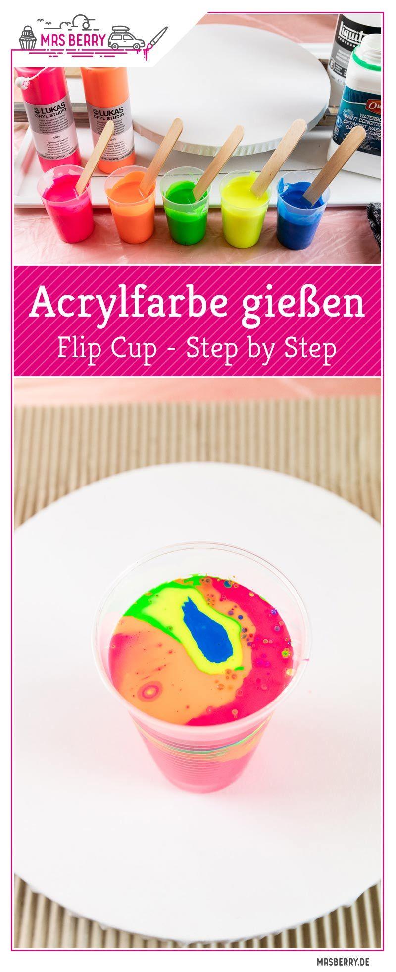 Acrylfarbe gießen - Acrylic Pouring der neue DIY Trend | MrsBerry.de