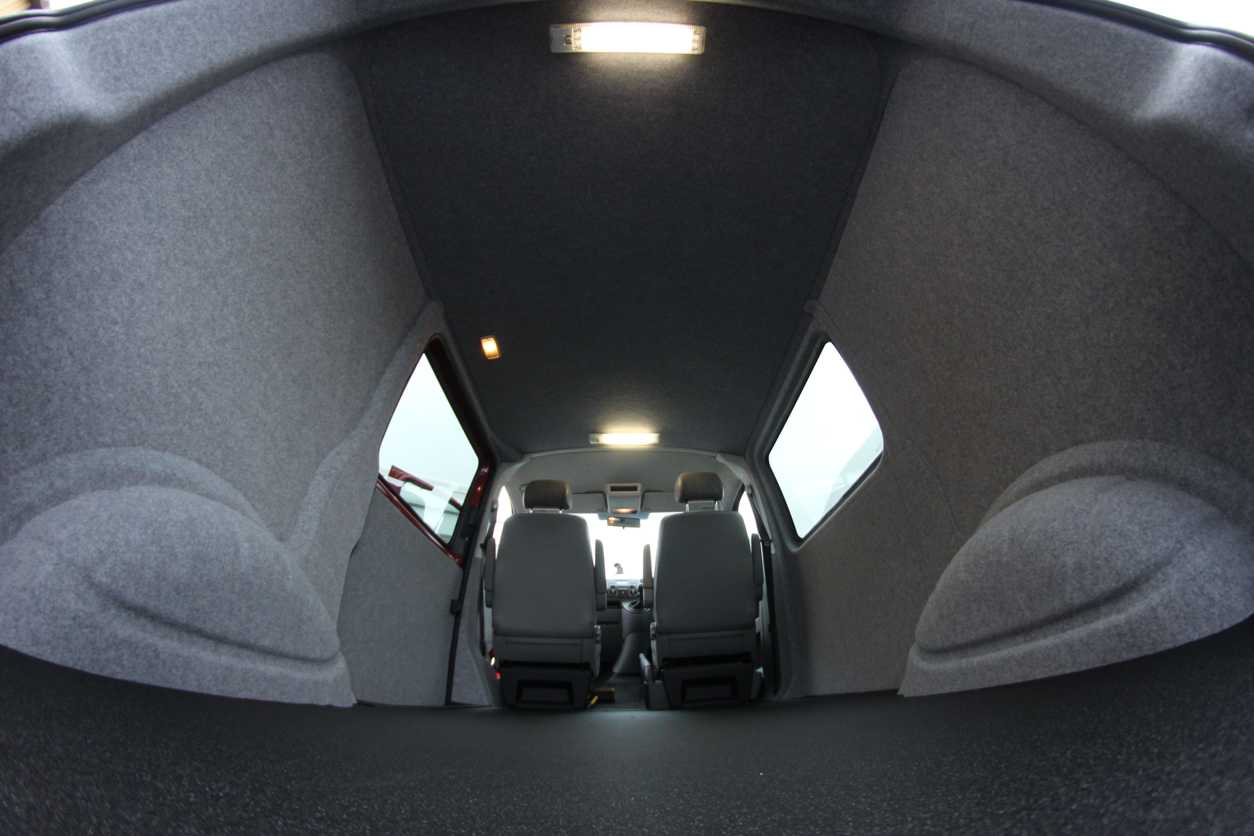 Insulate Ply Line Carpet Rear Under Supply Fit Floor And Apply Industrial Vinyl 2 Day Van Conversion Service