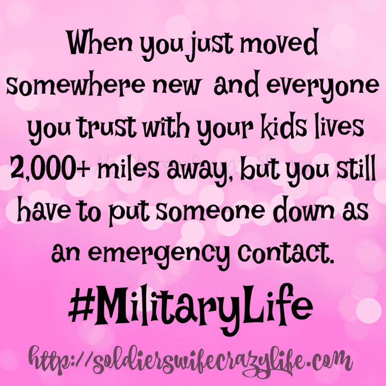 That Darn Emergency Contact   Military spouse support ...
