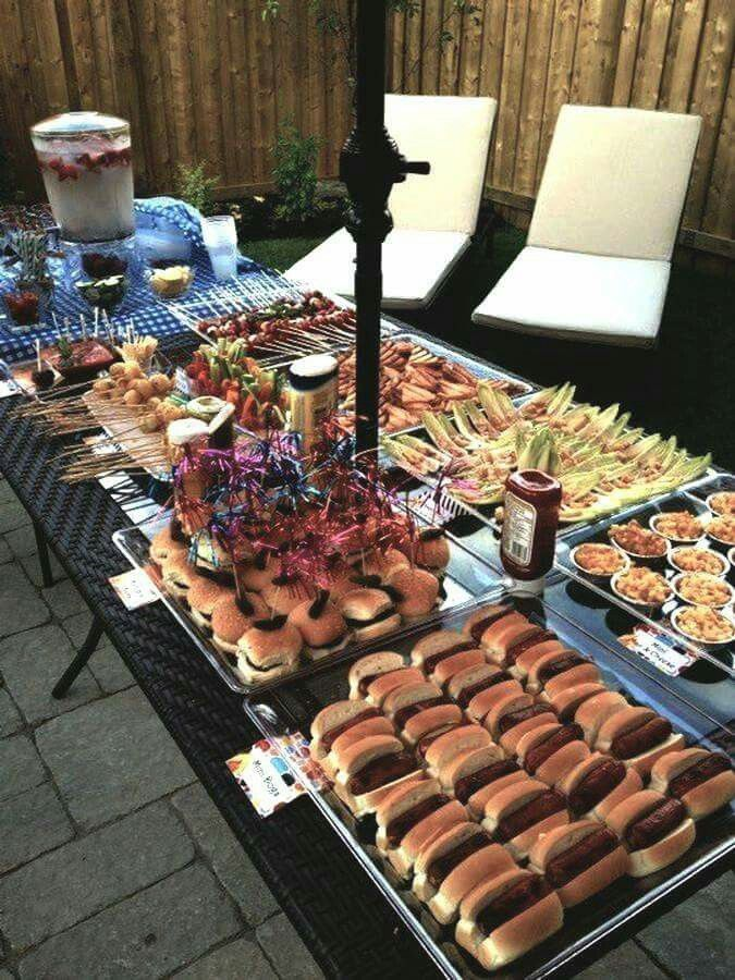 Good idea for wedding | Birthday party food, Bbq party ...