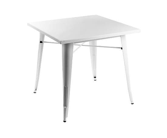 Mesa de acero - blanco
