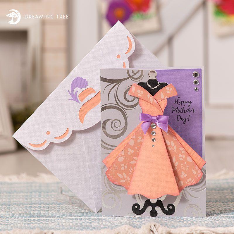 Darling Dress Greeting Card Svg Dreaming Tree Handmade Birthday Cards Cards Handmade Dress Card