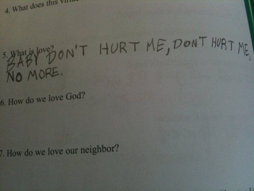 Unintentionally Inappropriate Test Responses From Children