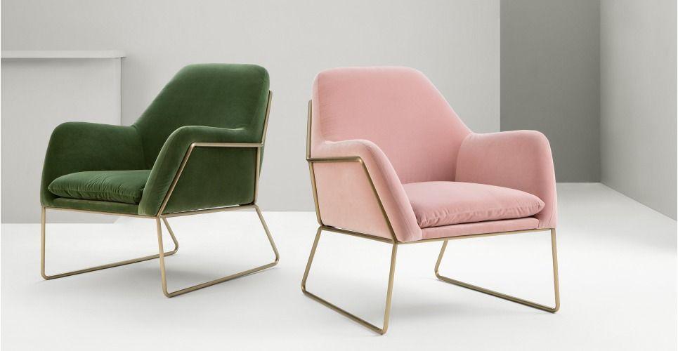 Frame Armchair, Grass Cotton Velvet from Made.com. Green. Express ...