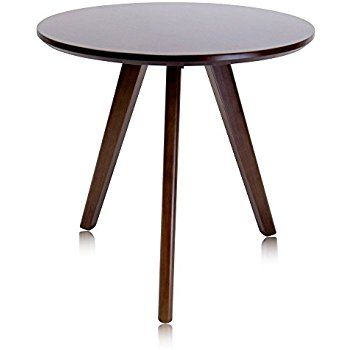Amazon Com Krei Hejmo Solid Wood Round Coffee Tea Side Sofa Table