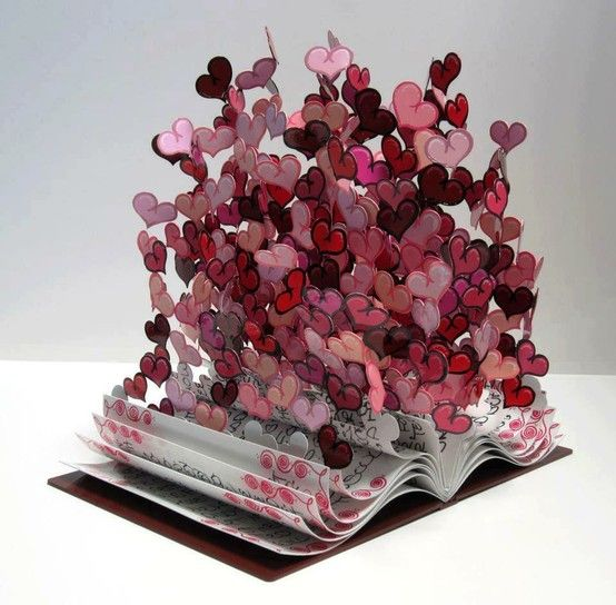 'Book of Love', Metal sculpture by David Kracov