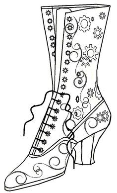 Free witch shoe template use a pencil to draw in the details of free witch shoe template use a pencil to draw in the details of maxwellsz