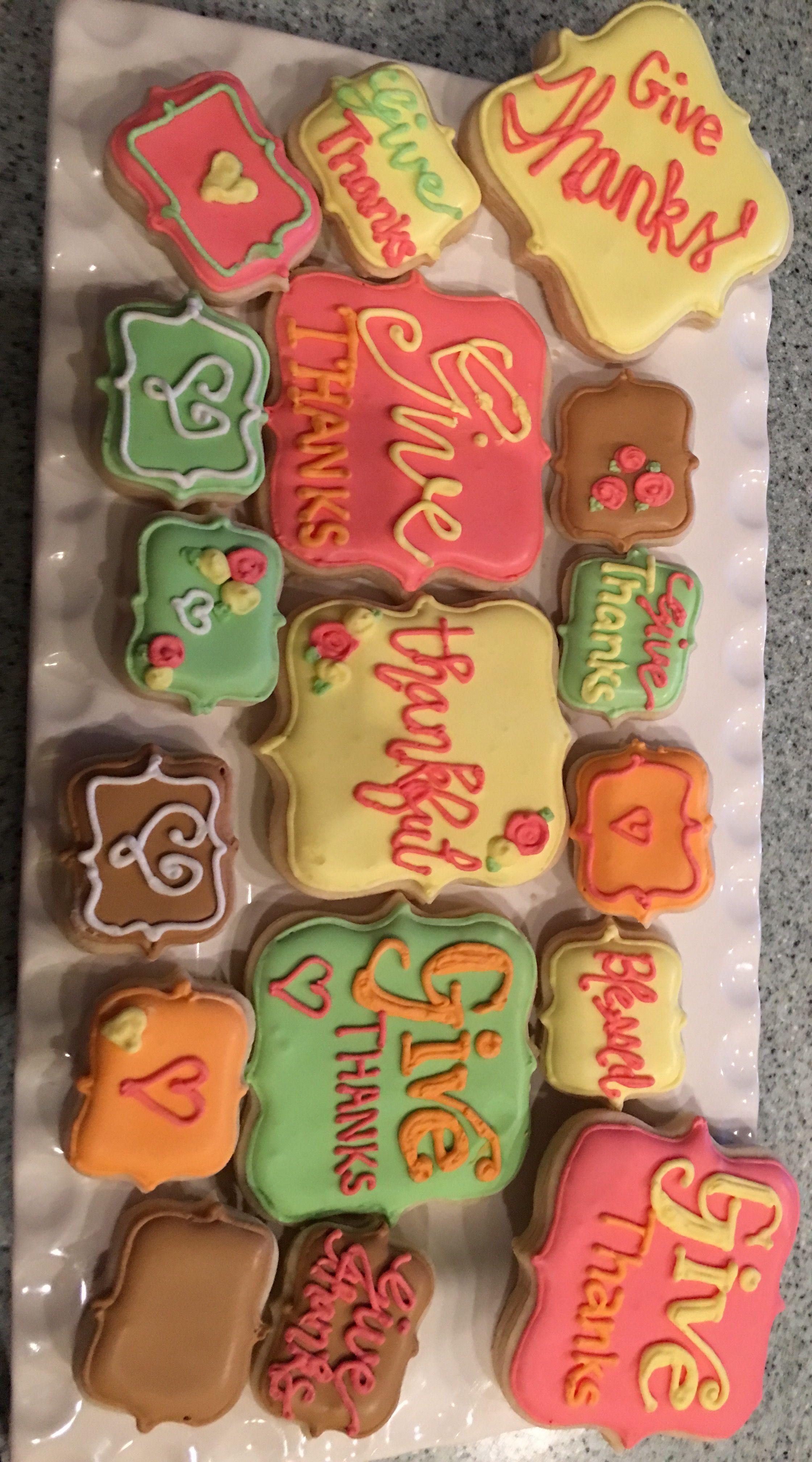 Thanksgiving sugar cookies