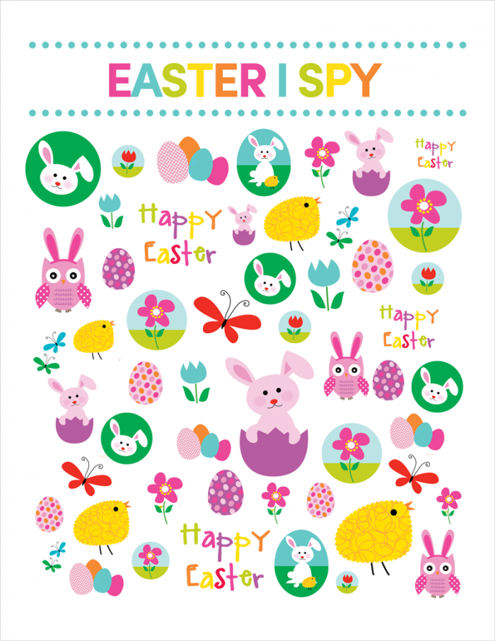 photograph about I Spy Printable named Easter I SPY Printable Easter / Spring Easter puzzles