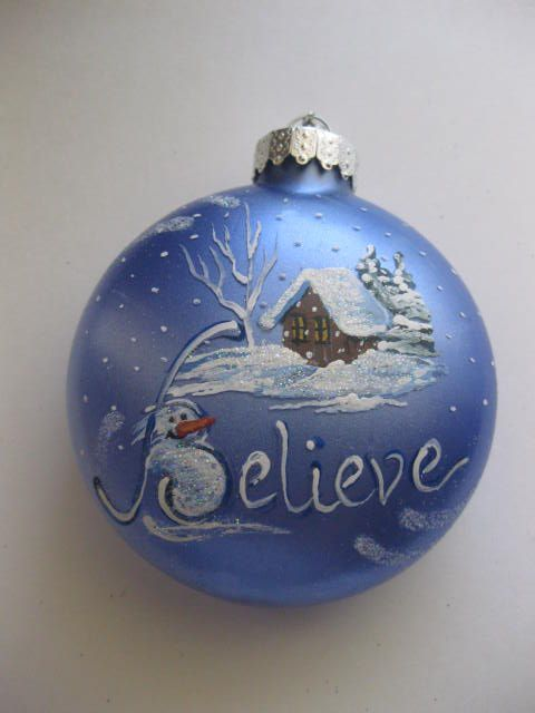 Hand Painted Ornament Ideas | Hand Painted Glass Ornaments | bi ...
