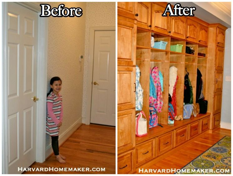 This Renovation Will Surely Inspire You We Took A Cluttered Closet Under Our Stairs And Created Small Yet Functional Mudroom Space With Fun Chalk Wall