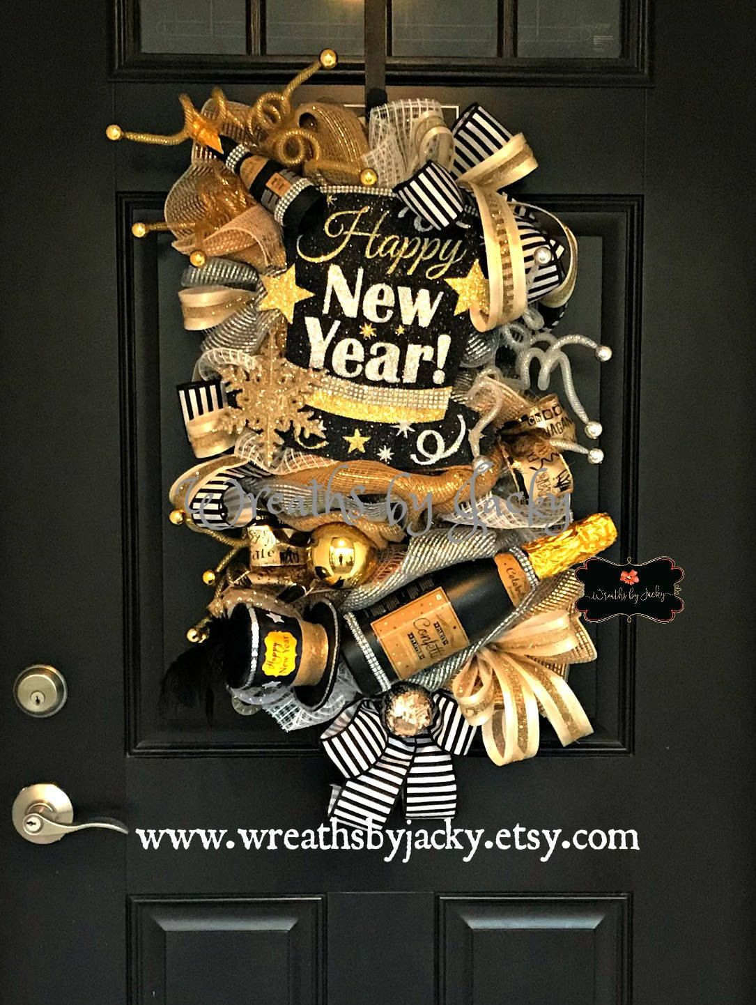 Reserved-New Years Wreath, New Years Eve Decorations ...