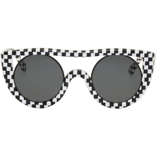 5741ae3583 Oliver Peoples pour Alain Mikli Black and White Check Ayer Sunglasses  ( 450) ❤ liked
