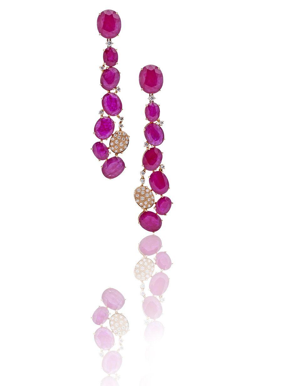 CASATO - ROMA - TAI MEE -  18 kt rose gold, sapphires, rubies and white diamonds