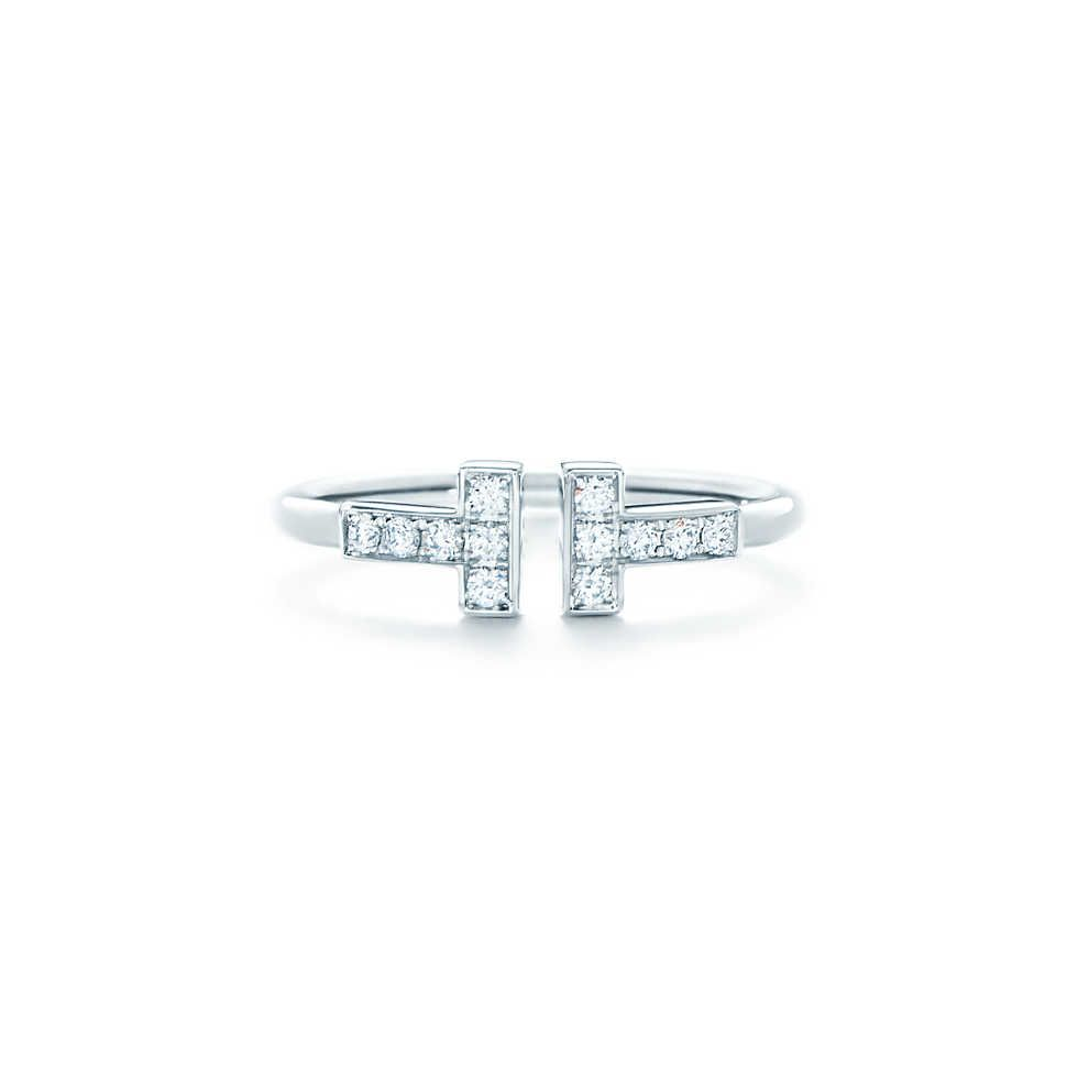 Tiffany t wire ring tiffany white gold and diamond