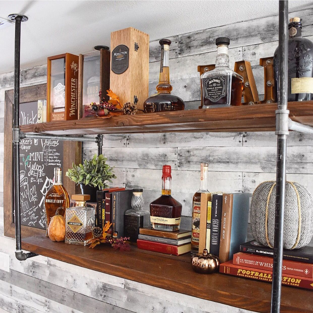 Diy Industrial Pipe Whiskey Bar For The Home In 2019 Diy Bar