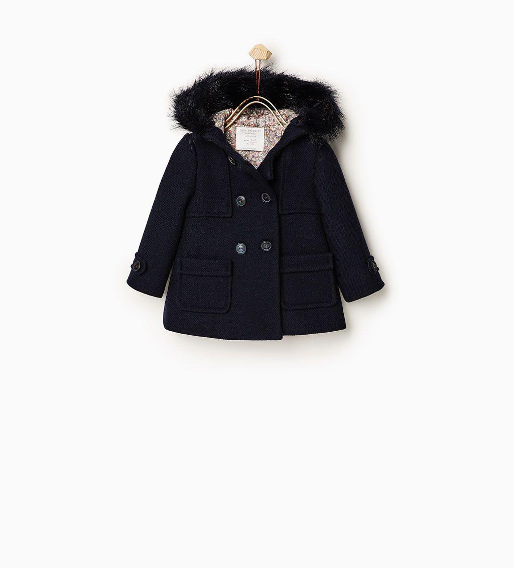 c5bb09df19c Duffle coat with faux fur hood-COATS-BABY GIRL | 3 months-4 years-KIDS |  ZARA United Kingdom