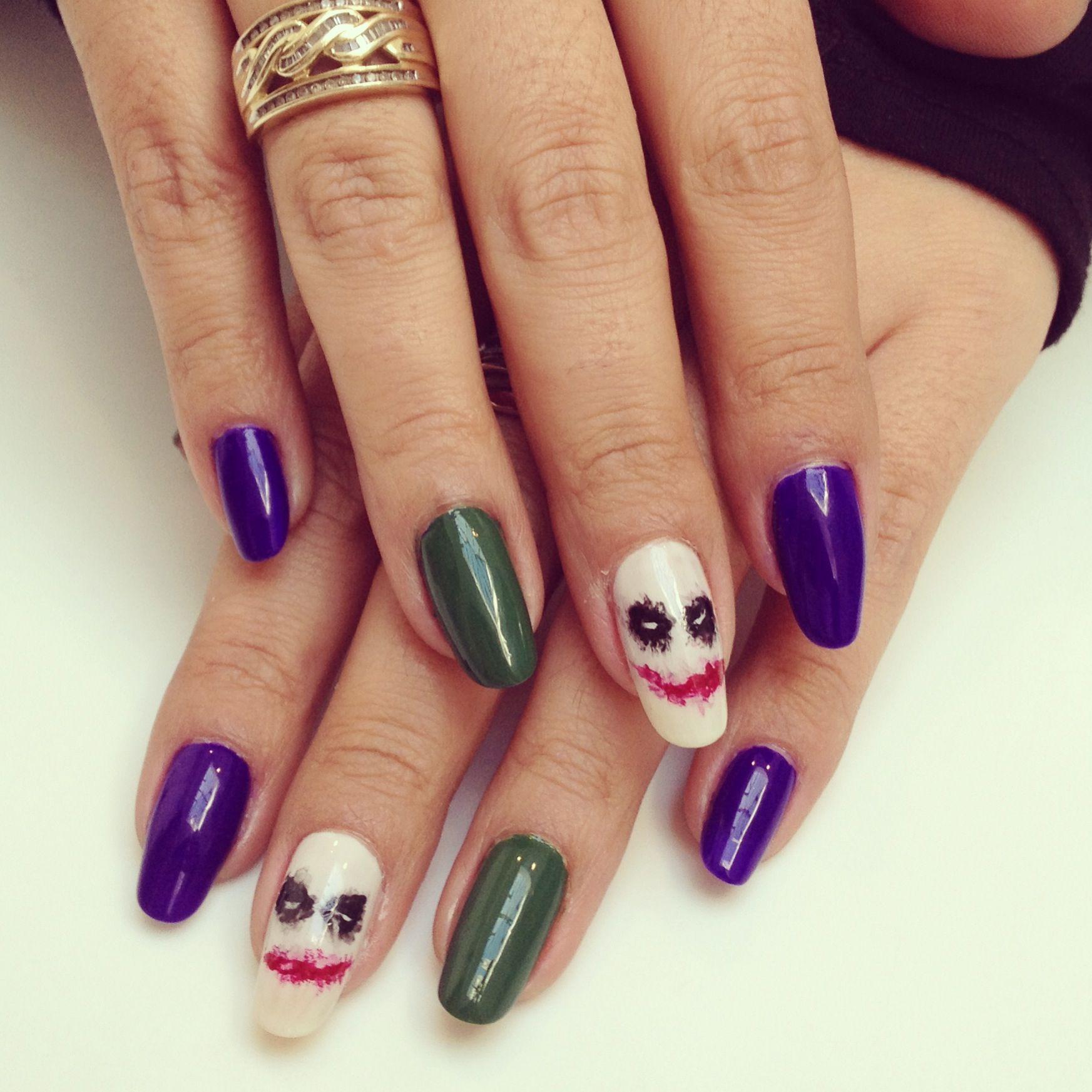 My Joker nails! Happy Halloween! #nails #halloweennails ...