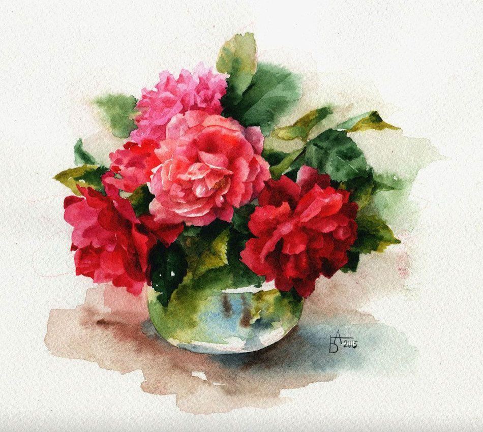 букет цветов картинки акварель товара представлена
