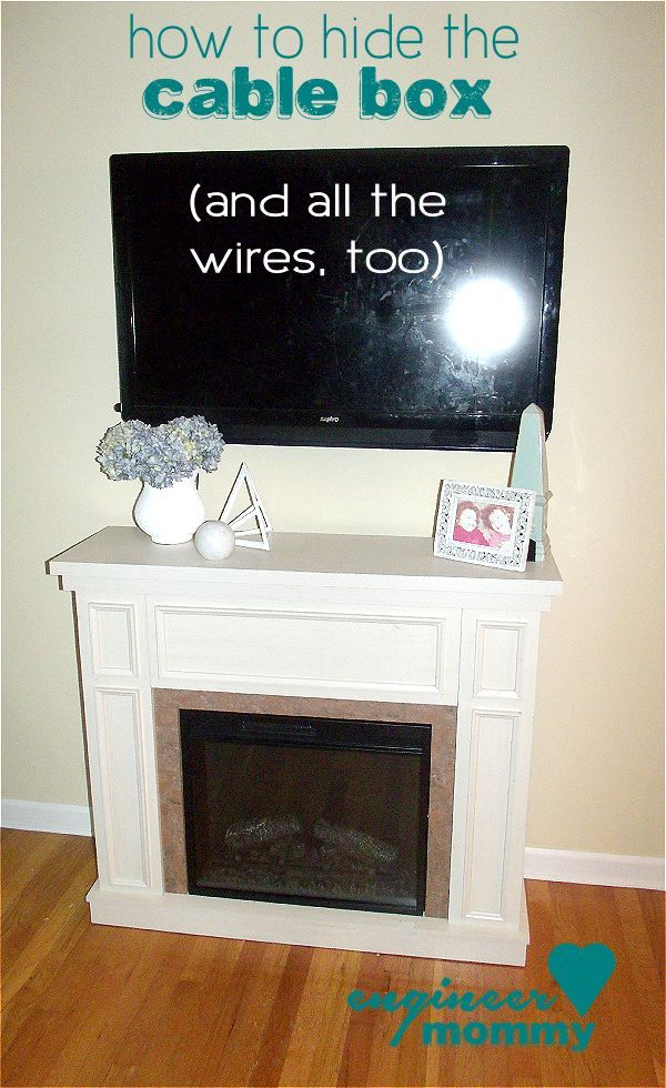 How to Hide the Cable Box | Fireplace | Pinterest | Cable box and House