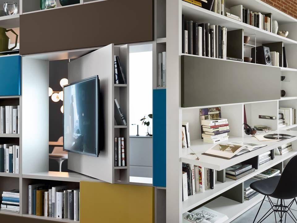 Composizione soggiorno con porta tv e scrivania for Scrivania soggiorno