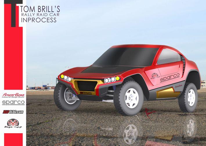 TOM BRILL's Rally Raid car by amos boaz, via Behance