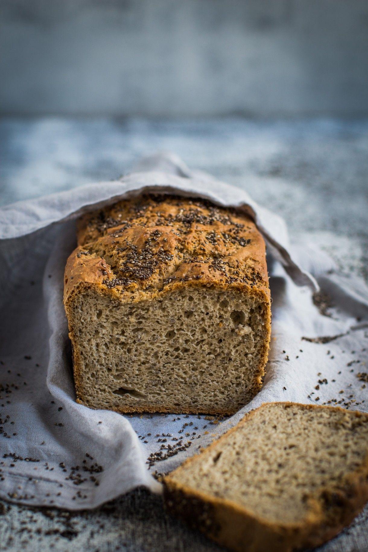 High Fibre Buckwheat And Chia Gluten Free Bread Recipe Gluten Free Recipes Bread Gluten Free Bread Buckwheat Flour Recipes