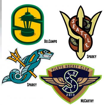 Seattle NHL Logo Concepts Creamer Boards Nhl logos, Logo